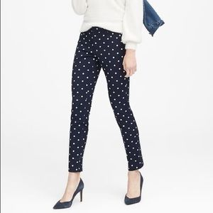 Banana Republic | Navy w/ White Polkadots Pants